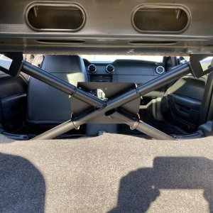 rear seat delete with steeds brace